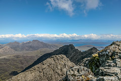 Summit view from Sgurr Alasdair. (Scotland by NJC.) Tags: mountains hills highlands peaks fells massif pinnacle ben munro heights جَبَلٌ montanha 山 planina hora bjerg berg montaña vuori montagne βουνό montagna fjell coastline 海岸线 litoral côte küste linea costiera 海岸線 해안선 seashore coast shore seaboard seaside beach strand island isle islet archipelago atoll key جَزِيرَةٌ ilha 岛屿 otok ostrov ø eiland isla saari île insel νησί isola wyspa insulă остров isleofskye sgurralasdair blackcuillins blabheinn scotland