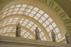 In Union Station, Washington DC (Tim Brown's Pictures) Tags: washingtondc architecture buildings urban city neighborhoods people urbanrenewal renovation historic trainstation unionstation passengers was washington dc unitedstates