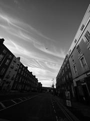 Dublin in the very morning (Steve only) Tags: olympus pen ep5 panasonic lumix g vario 14714 asph 7144 714mm f4 m43 snap landscape ireland dublin sky cloud bw monochrome 黑白