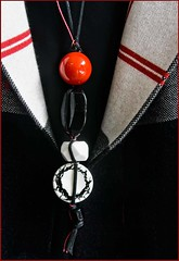 Blcak, White and Red (otterman51) Tags: abstract canada ontario ortbaldauf blackandwhite closeup clothes colours fashion jewlery ortbaldaufcom photography red summer
