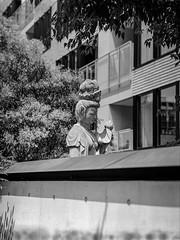Statue Appears (RunnyInHongKong) Tags: hc110solutionb mediumformat film akasaka chuzenji opticfilm120 japan mamiya645protl rolleiretro400s selfdevelop blackwhite minatoku vuescan mamiyasekor110mmf28 tokyo 6x45