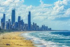 autumn, gold coast (Fat Burns ☮) Tags: seascape landscape nikond800 goldcoast surfersparadisefromnorthburleigh surfersparadise cityscape skyline