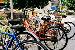 Bicycles (Thanathip Moolvong) Tags: bicycle leica m4 kodak color plus 200 negative film