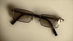 Two in one (LeftCoastKenny) Tags: utata ironphotographer glasses ducttape sepia utata:project=ip287 utata:description=hide