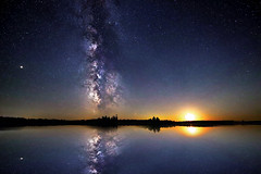 Milky Way Moon (Jeff Saly) Tags: moonscape moon milkyway milky way nightscape night stars reflection land starscape starry lake water nature peaceful galaxy canada