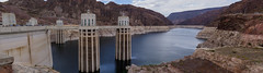 The Hoover Dam (danmcgrotty) Tags: hoover dam drive hike hiking views water sky skyline clouds electric towers powerlines industrial red rocks hills mountain bridge tall high canon t6