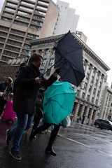 Umbrella hell (Cranamanor13) Tags: streetphotography street streetportraits people peoplewatching australia andrewwilson melbourne melbournestreet portraiture