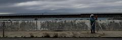 Mesures en cours... (8pl) Tags: mer motobu borddemer mesures eau okinawa japon montagneauloin mur trottoir nuages jetée