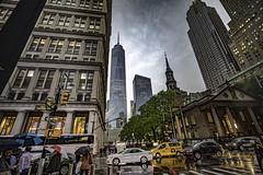 Broadway corner Fulton on a rainy day (moart.photography) Tags: 2018 nyc newyork usa