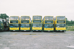 Kiev 19 (camera_holic) Tags: kiev 19 35mm film slr soviet ussr ukrainian camera helios 81 solution vx200 berkeley glos gloucestershire applegates coaches bus buses double decker line parked yellow