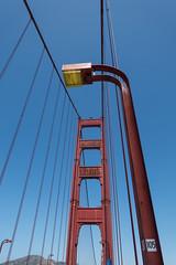 Golden Gate Bridge (2) (Teelicht) Tags: brücke california goldengatebridge kalifornien nordamerika northamerica usa unitedstatesofamerica vereinigtestaaten bridge streetlamp strasenlampe strasenlaterne sanfrancisco