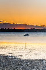 Sunrise and Low Clouds on the Bay (Merrillie) Tags: daybreak sunrise nature australia tascott foreshore newsouthwales clouds koolewong nsw brisbanewater bay morning earlymorning water coastal landscape sky waterscape dawn centralcoast outdoors boats