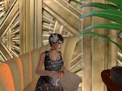 Could Use A Little Water (Cherie Langer) Tags: salon art deco cigarette 20s fantasy flapper brunette