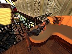 Languid And Bittersweet (Cherie Langer) Tags: art deco steampunk fantasy brunette 20s flapper