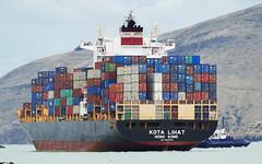 KOTA LIHAT.Container Ship. (Bernard Spragg) Tags: kotalihat containership vessel shipping marine nautical lumix portlyttleton tugboat