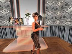 Salon (Cherie Langer) Tags: steampunk art deco brunette smoking fantasy salon 20s
