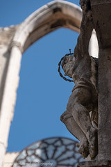 Convento do Carmo (www.chriskench.photography) Tags: ruin lisbon 18135 buildings wwwchriskenchphotography fujifilm portugal sculpture ruins copyright statue lisboa xt2 jesus history architecture christ kenchie europe crucifiction travel lisboaregion