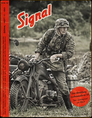 German Army have eyes on Leningrad (Peeteekayy) Tags: wwii ww2 german army ss motorcycle sidecar soldier liebstandarte leningrad war magazine publication nazi