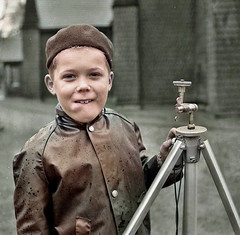 Fun without a camera (theirhistory) Tags: child children kid boy coat raincoat mackintosh hat