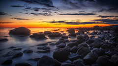 Silence water (bjorns_photography) Tags: landscape view photography sunset longexposure lista clouds ocean water