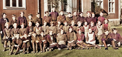 Class photo (theirhistory) Tags: child children kid boy girl jacket jumper shoes wellies rubberboots