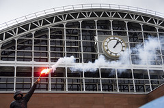Peterloo 200 (Mike Serigrapher) Tags: peterloo 200 manchester flare central clock