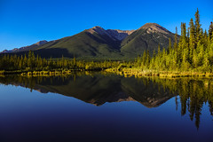 Rise and shine (Robert Grove 2) Tags: vermillion lake morning summer blue light canada alberta banff landscape nature reflection mountain