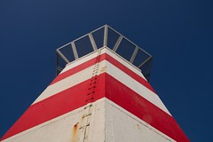 Lighthouse (Johan Moerbeek) Tags: lighthouse ijmuiden noordpier noordzee vuurtoren noordholland canon bluesky