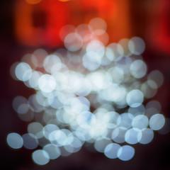 shop window decoration (defocused) (Vishwanath S. Janzen) Tags: night olympus microfourthirds 43 ulm abstract city lumixg20f17ii omd red germany outoffocus vishwanathsjanzen defocused circles squareformat em10ii 11 bokeh blur panasonic nightphotography widestaperture square white