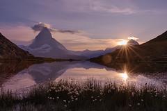 Matterhorn Sunset at the Riffelsee (Tsamsi) Tags: switzerland mountain lake riffelsee matterhorn zermatt gornergrat riffelberg schweiz suisse