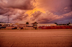 That Orange Glow (kendoman26) Tags: stormclouds clouds hdr nikhdrefexpro2 sonyalpha sonyphotographing sonya6000 sel1628 sonyvclecu1 morrisillinois