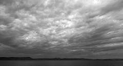 Dramatic Sky (timon.blub) Tags: quebec canada travel dramatic sky monochrome clours lake landscape