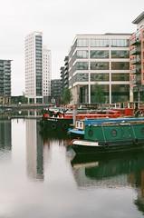 Leeds Basin (John Mabbitt) Tags: sky reflection water boat canal towers leeds narrowboat leedsandliverpoolcanal leedsbasin