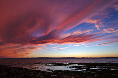 The Sky is on Fire (timon.blub) Tags: quebec canada travel sunset dramatic sky seascape landscape twilight