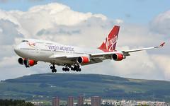 Virgin Atlantic 747-443 G-VGAL - Glasgow (Steve's Piks) Tags: 747 virgin queen jersey girl glasgow orlando jet boeing airliner