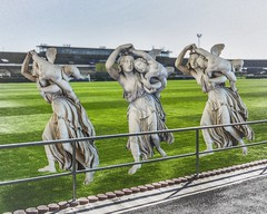 according to unconfirmed rumours throwing angels will be admitted as a new discipline at the olympic games 2024 in paris #digitalart #collage #sculptures #stadium #sports #gaumbart (MarkusBaumgartner) Tags: digitalart collage sculptures stadium sports gaumbart