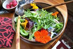 Summer salad with nasturtium flowers (Peter Denton) Tags: salad nasturtium flower food ©peterdenton canoneos100d tropaeolum