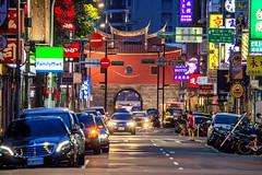 Taipei Old North Gate / Beimen  台北府城北門 (Jennifer 真泥佛 * Taiwan) Tags: 北門 台北北門 承恩門 台北市 城中區 taipei beimen night rushhour