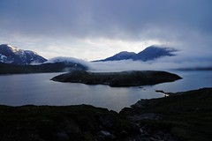 The Fog (timon.blub) Tags: fog greenland arctic travel hiking nuuk fjord clouds mountains