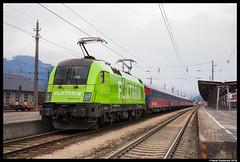 Flixtrain 182 505, Bludenz 17-03-2018 (Henk Zwoferink) Tags: henkzwoferink bte bahntouristikexpress flixtrain flx alpen express alpenexpress ae rxp railexperts treinreiswinkel taurus mrce siemens 182505