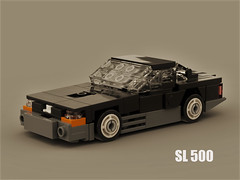 Mercedes SL 500 (R129) (ron_dayes) Tags: mercedes benz sl 500 1990 amg v8 sportscar minifigure lego bricks minifig city town black grey