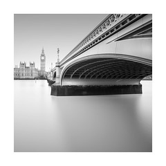 London (GlennDriver) Tags: black white bw blackandwwhite long exposure city london mono monochrome bnw river bridge westminster big ben water canon nd square buildings architecture