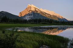 Mount Rundle (My Americana) Tags: mountrundle banff nationalpark vermillionlake alberta sunset dusk reflection scenic landscape