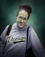 Sarah (mckenziemedia) Tags: woman portrait portraiture beauty beautiful sweatshirt smile city urban chicago street streetphotography people humanity homeless homelessness