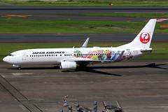 Japan Airlines   Boeing 737-800   JA330J   Shimajiro Jet livery   Tokyo Haneda (Dennis HKG) Tags: aircraft airplane airport plane planespotting oneworld canon 7d 100400 tokyo haneda rjtt hnd japanairlines jal jl japan boeing 737 737800 boeing737 boeing737800 ja330j