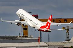 OY-GDA_01 (GH@BHD) Tags: oygda embraer erj erj195 regionaljet aircraft aviation airliner erj195200lr gde greatdaneairlines bhd egac belfastcityairport