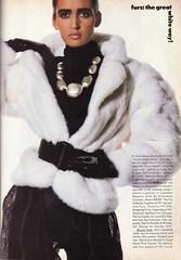 Vogue editorial shot by Irving Penn 1985 (barbiescanner) Tags: irvingpenn gailellliott editorial vintage retro fashion vintagefashion 80s 80sfashions 1980s 1980sfashions 1986 vogue vintagevogue