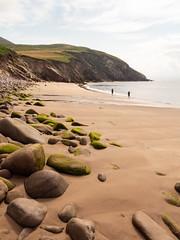 Kilmury Beach (Stephen T Slater) Tags: dingleway kilmurybeach republicofireland beach cliff coast ocean rocks sand sea shore stream countykerry ireland