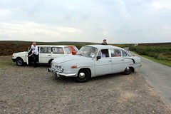 The highest point on the Long Mynd (Davydutchy) Tags: truk tatra register uk annual rally ironbridge shropshire england greatbritain vk 603 t603 lada wartburg 353 tourist kombi estate car longmynd moors hills valley august 2019