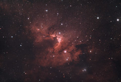 The Cave Nebula (AstroBackyard) Tags: astrophotography nebula space night sky deep cave astronomy dark telescope camera color filter lenhance optolong astrobackyard